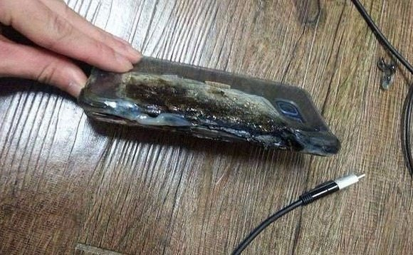 Galaxy Note 7 quemado