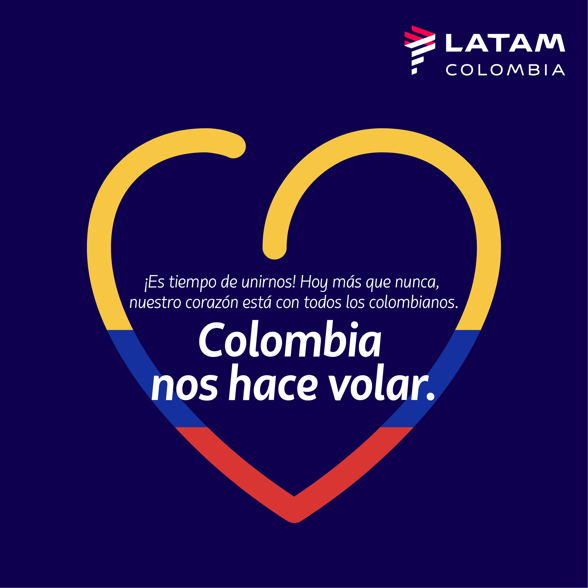 Colombia nos hace volar: Latam Airlaines